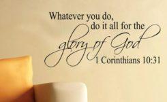 【读圣经学英语】神在人子身上也得了荣耀
