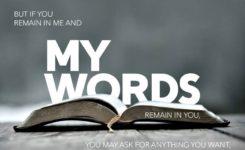 【读圣经学英语】我的话也住在你们里面