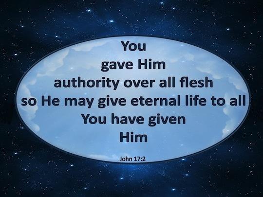 【读圣经学英语】所赐给祂的人