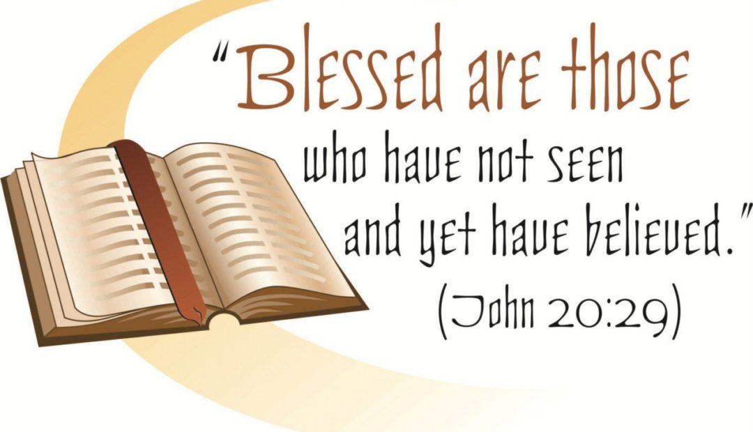 【读圣经学英语】那没有看见就信的有福了