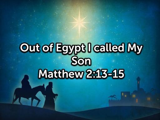【读圣经学英语】往埃及去