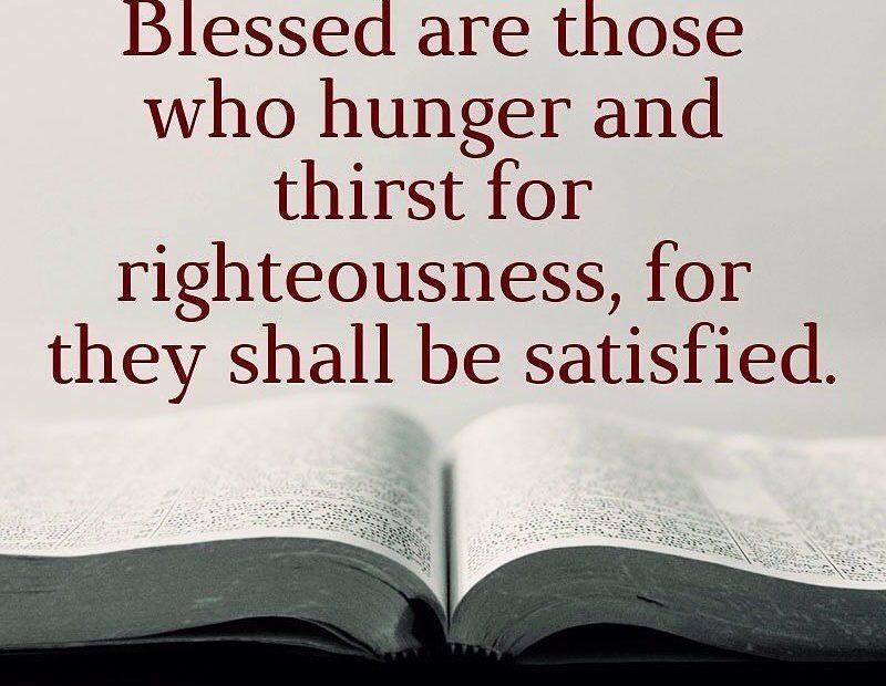 【读圣经学英语】饥渴慕义